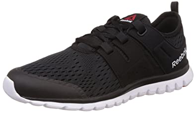 Reebok Men's Sublite Authentic 2.0 MTM, BLACK/WHITE/RED, ...
