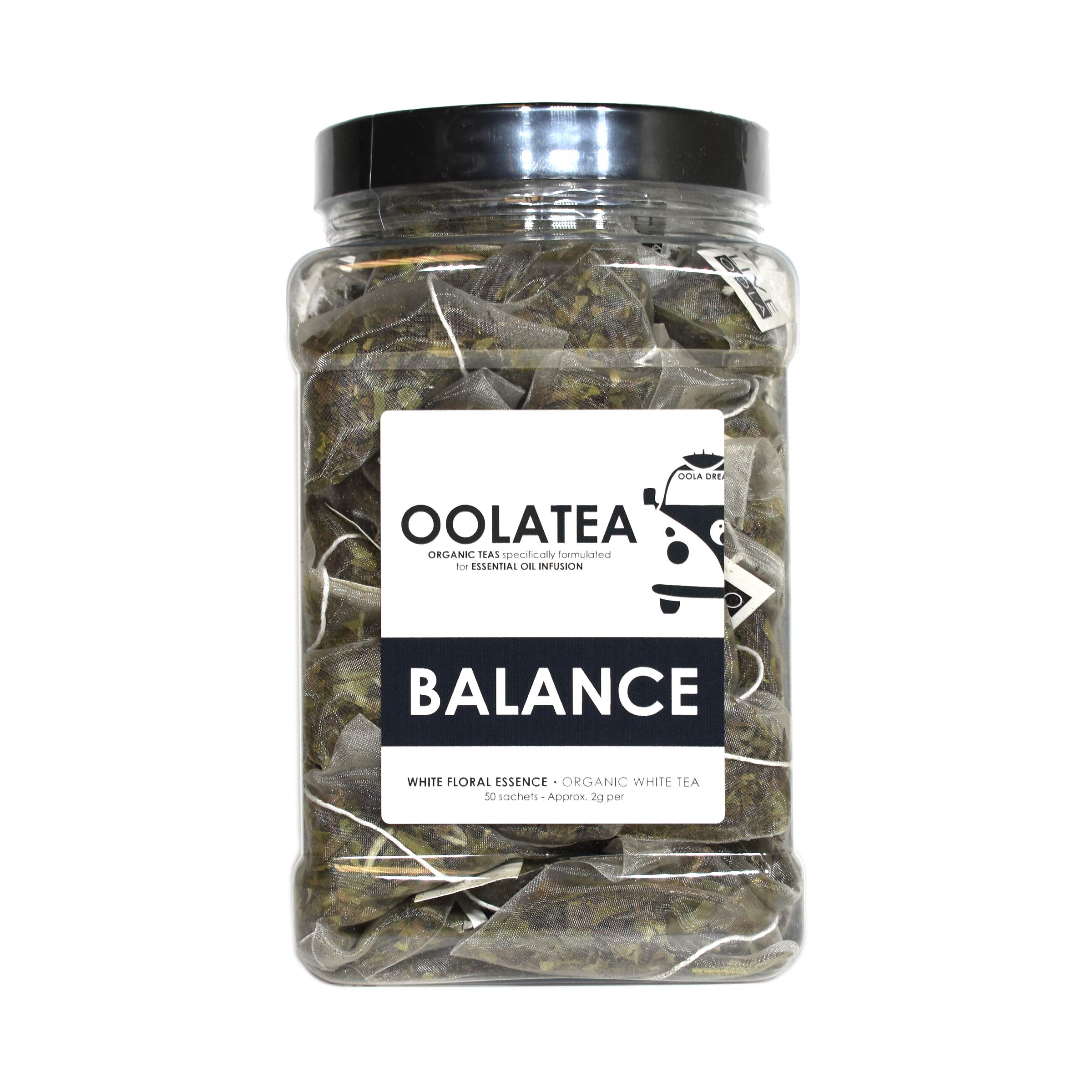 Oola Tea - BALANCE (White Floral Essence 50 Count | Certified Organic White Tea | Promotes Relaxation | Reduces Oxidative Stress by OolaTea