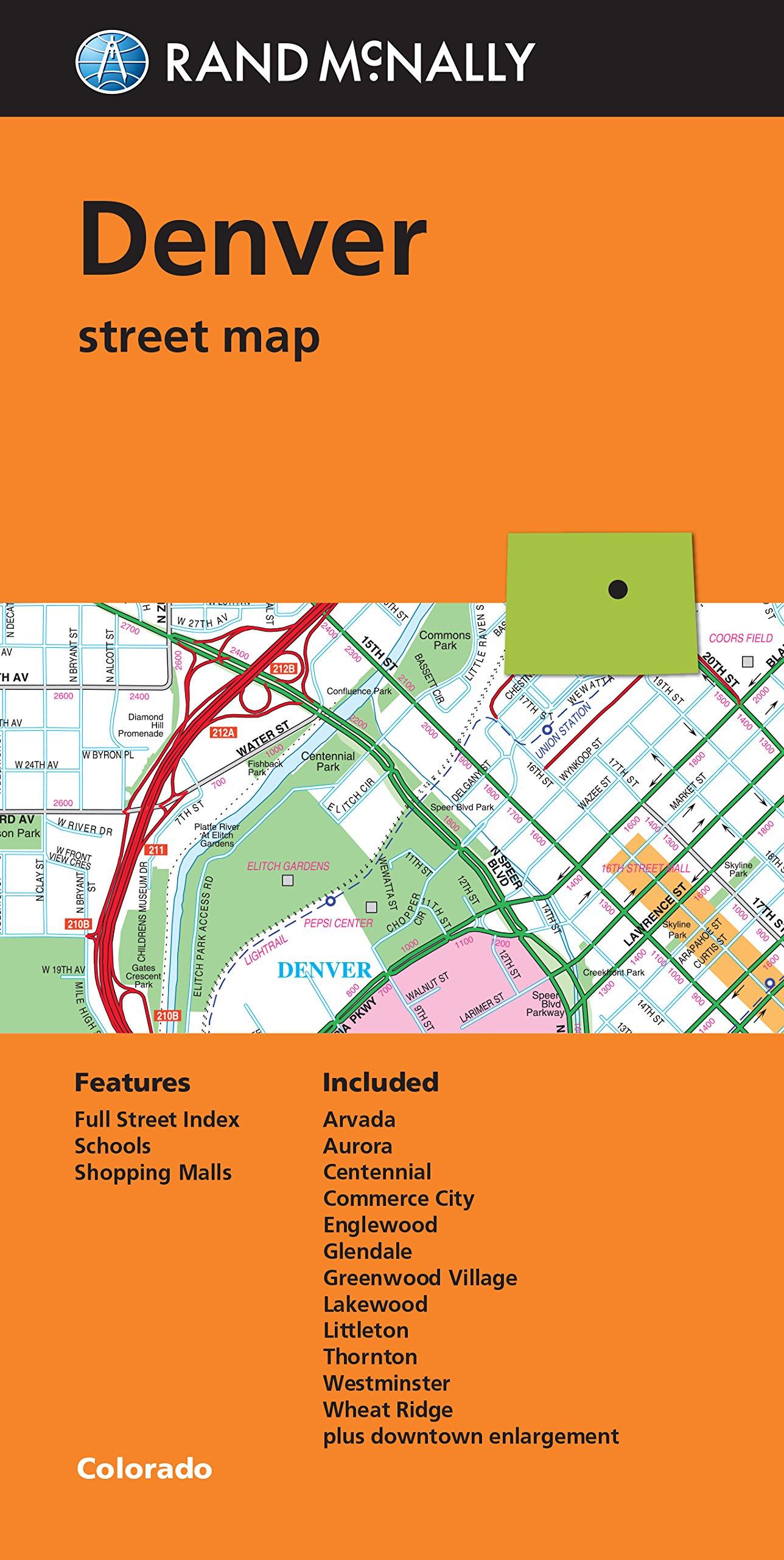 Folded Map Denver Street Map Rand Mcnally 9780528008870 Amazon
