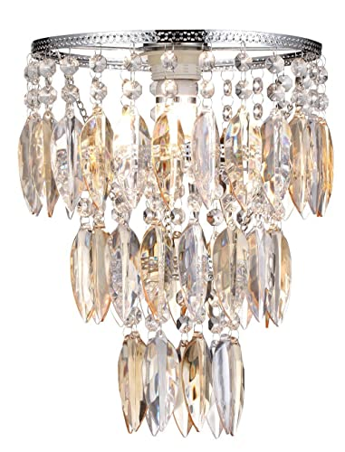 Easy fit nikki champagne lamp shade for ceiling fitting modern easy fit nikki champagne lamp shade for ceiling fitting modern chandelier decoration aloadofball Choice Image