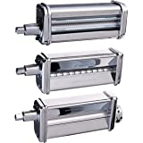 Kitchenaid KPRA Pasta Roller and cutter for Spaghetti and Fettuccine (Renewed)