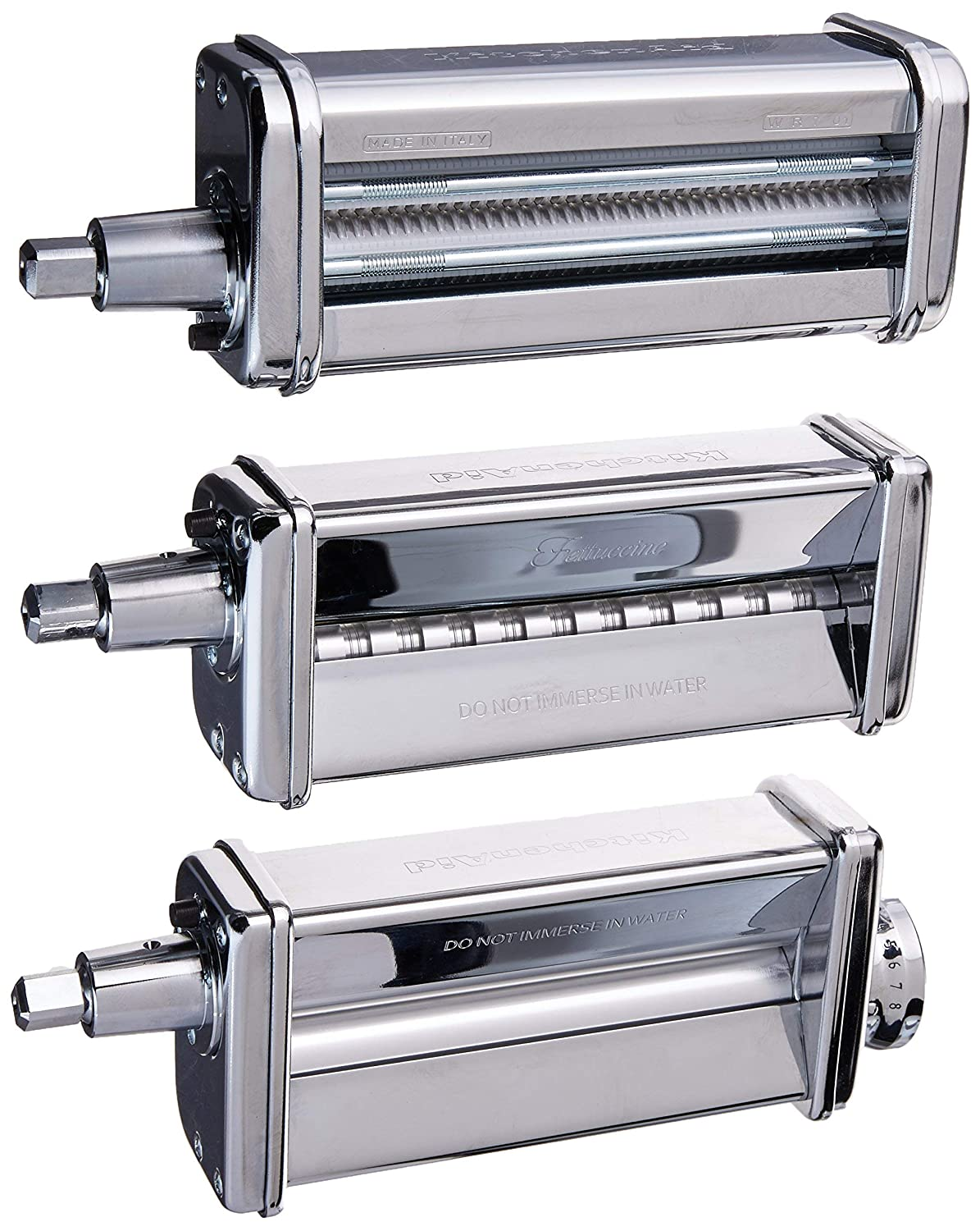 Kitchenaid KPRA Pasta Roller and cutter for Spaghetti and Fettuccine (Certified Refurbished)