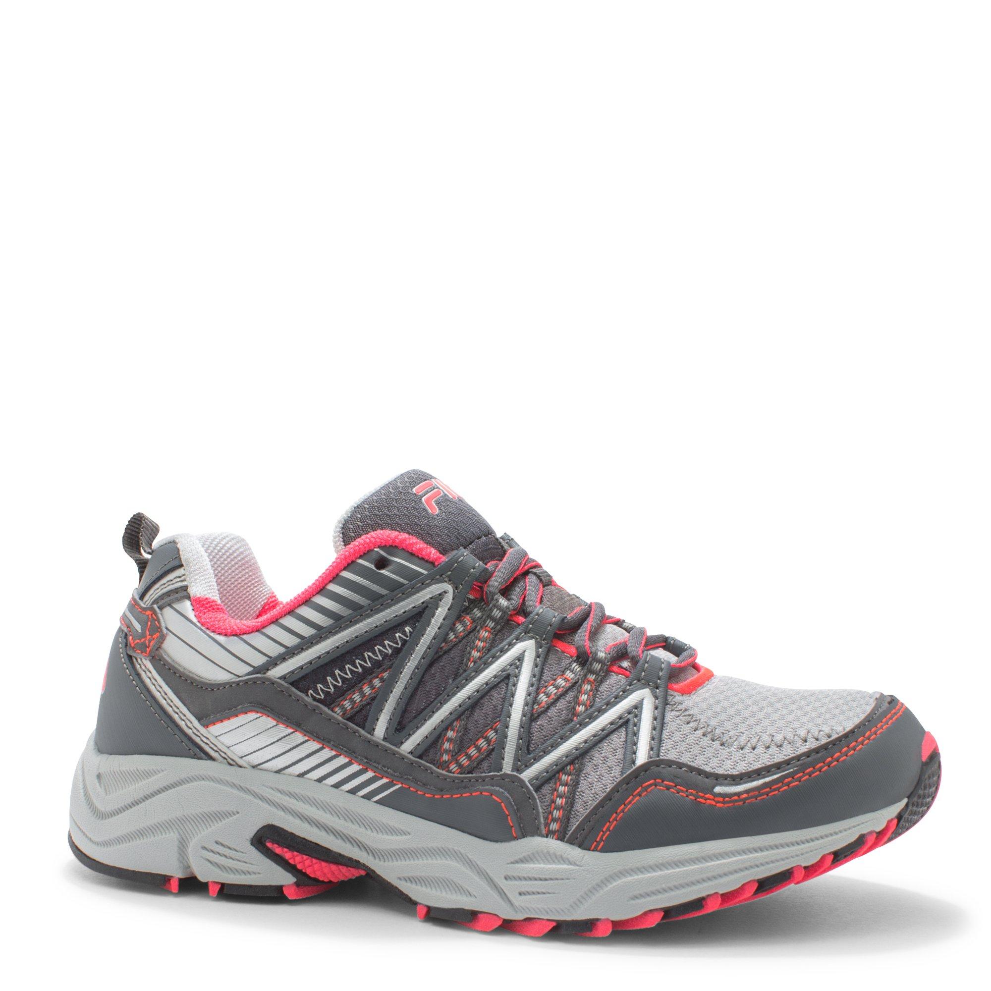 Fila Women's Headway 6 Running Shoe, Metallic Silver/Castlerock/Diva Pink, 8.5 M US