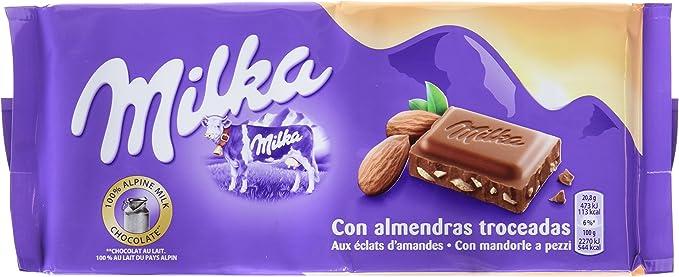 Milka Tableta De Chocolate Leche Y Almendras - 125 g: Amazon.es: Alimentación y bebidas