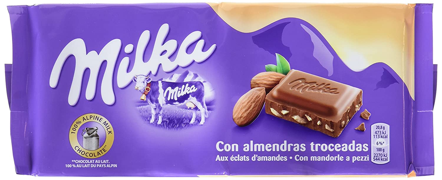 Milka Tableta De Chocolate Leche Y Almendras - 125 g: Amazon.es: Amazon Pantry