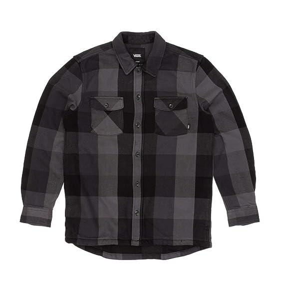 a5bbe0e11a Vans Hixon IV Long Sleeved Over Shirt - Black Charcoal  Vans  Amazon.co.uk   Clothing