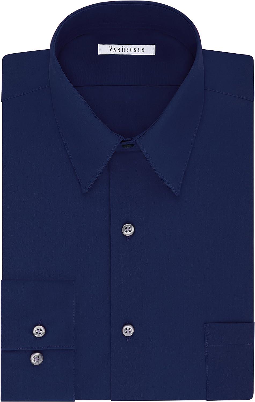 Van Heusen Men's Tall Fit Dress Shirts Poplin (Big and Tall) at  Men's Clothing store