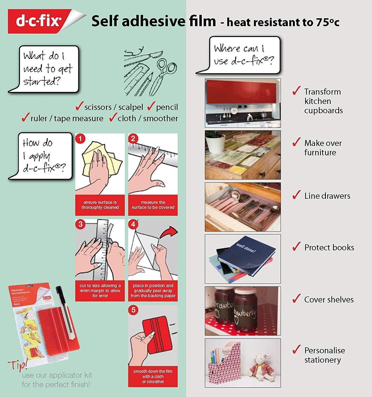 DC Fix 346-0478-4PK 4-pack Self-Adhesive Film, 17'' x 78'' Roll - 4 Pk, Rustic
