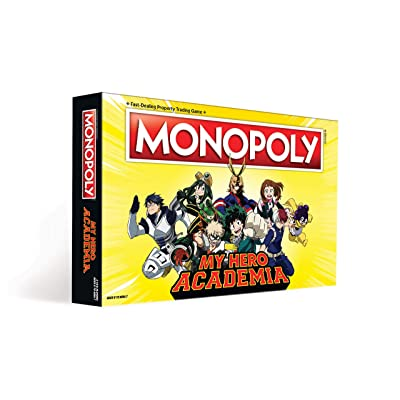 Monopoly My Hero Academia Board Game | Themed Monopoly Board Game | Custom Collectable Tokens | Bring Your Favorite My Hero Academia Show to Life in This Custom Monopoly Game: Toys & Games