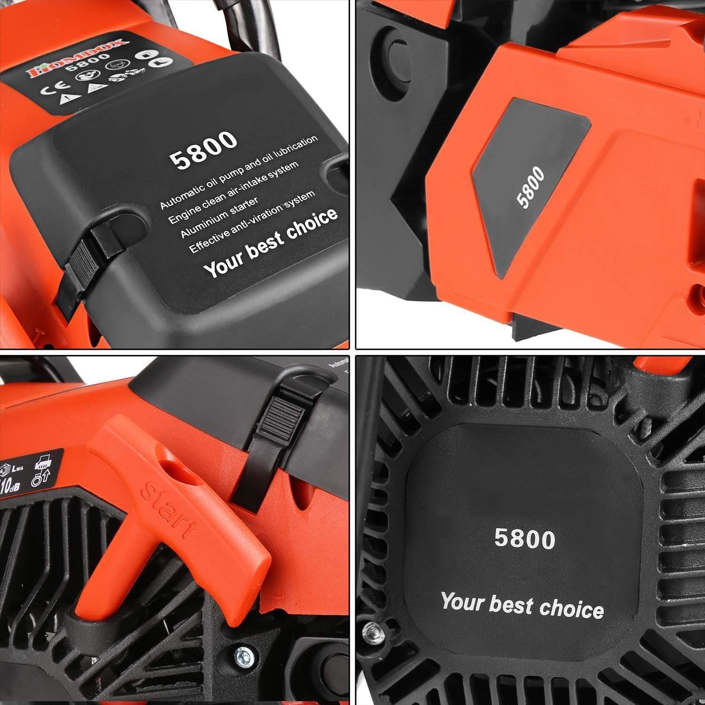 Amazon.com: 20 inch Bar 3.5hp 58 cc 2 tiempos gasolina ...