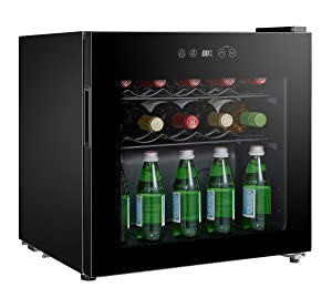 SPT WC-1686C Single Zone Wine Cooler with 16-Bottle Capacity, Black