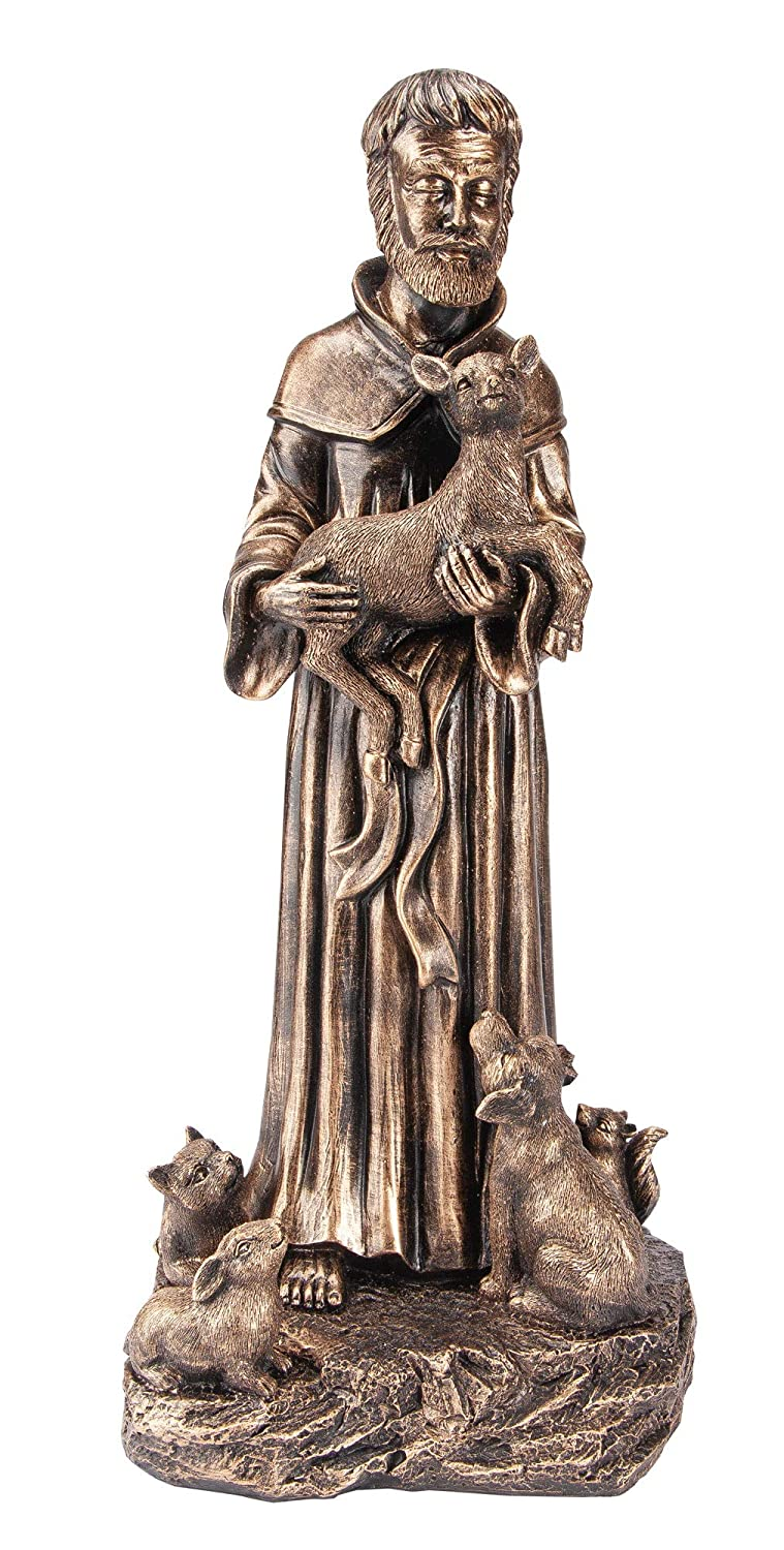 The Paragon St. Francis with Animals Statue, Saint Francis of Assisi Indoor or Outdoor Home, Yard and Garden Decor