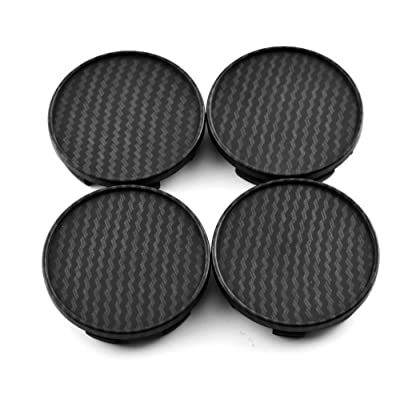 RTRHINOTUNING 54mm 49mm Carbon Fiber Grain Car Wheel Center Hub Caps Set of 4 for 1985-1996 Nissan Z: Automotive