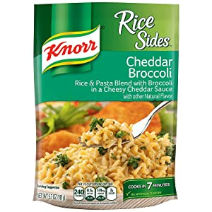 Knorr Rice Side Dish for a Tasty Rice Side Dish Cheddar Broccoli with No Artificial Flavors 5.7 oz, 12 count