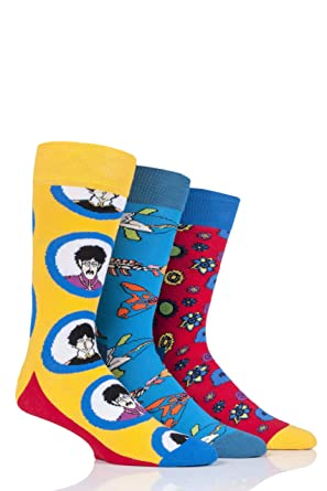 Happy Socks Caja Regalo Ep (3-pack) The Beatles X (50th Aniversario): Amazon.es: Ropa y accesorios