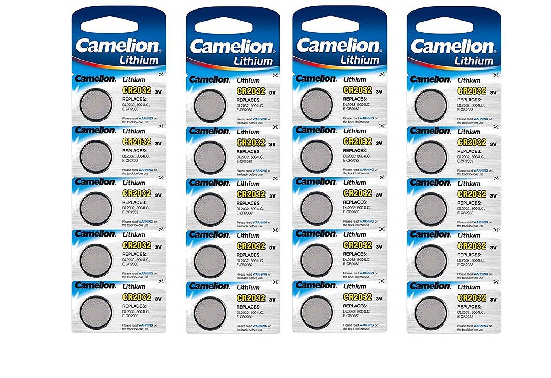 20 x CR2032 Pile bouton lithium Camelion 5004LC Batterie