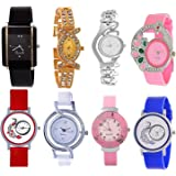 Opendeal Analog Multicolor Watches For Girls Womens (Od-W257) Pack Of 8