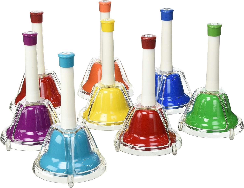 Percussion Workshop CB8 Set of 8 Colour Combi Hand Bells