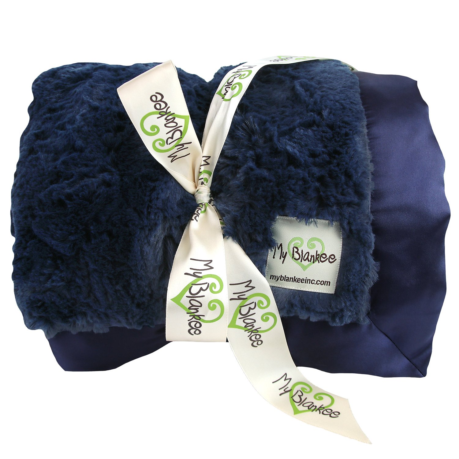 My Blankee Luxe Bella Extra Large Throw Blanket, Navy, 59'' X 85''