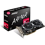 MSI AMD RX 580 ARMOR 8G OC 8 GB GDDR5 256-Bit Memory DVI/DP/HDMI PCI Express 3 Graphics Card - Black
