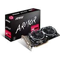 MSI AMD RX 580 Armour 8 g OC 8 Go de mémoire 256 Bits GDDR5 DVI/DP/HDMI Carte Graphique PCI Express 3 – Noir