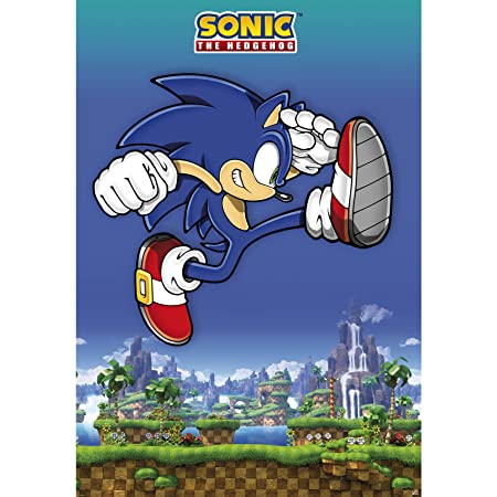 Poster Sonic, el erizo. SEGA: Amazon.es: Hogar