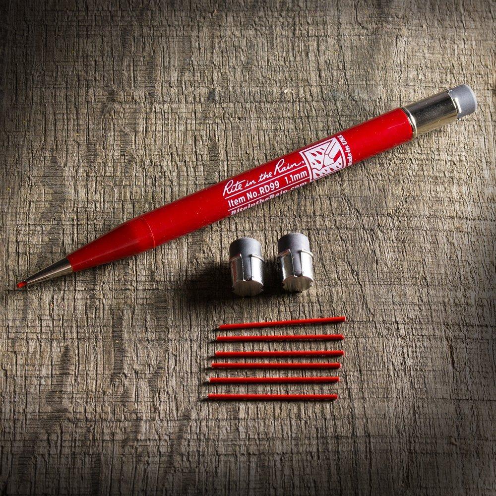 Unisex Rite in the Rain Unisex Matita Meccanica Nero Merchanical Pencil Red