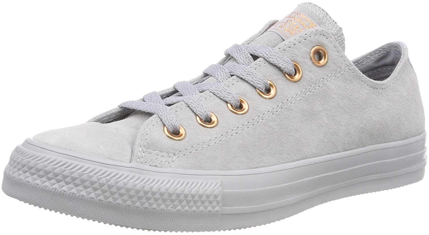 TALLA 35 EU. Converse CTAS Ox Wolf Grey/Blue Chill, Zapatillas Unisex Adulto