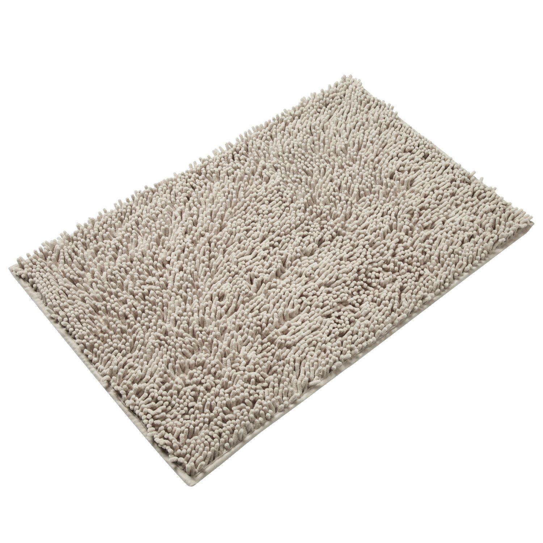 Amazon.com: Vdomus Non-slip Microfiber Shag Bathroom Mat, 20 x 32 ...