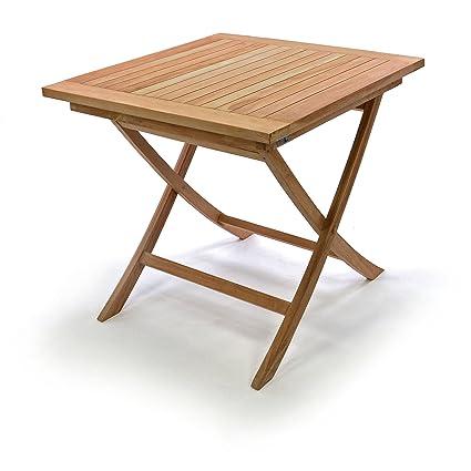 Holztisch Gartentisch.Divero Holztisch Gartentisch Teakholz 80 X 80 Cm