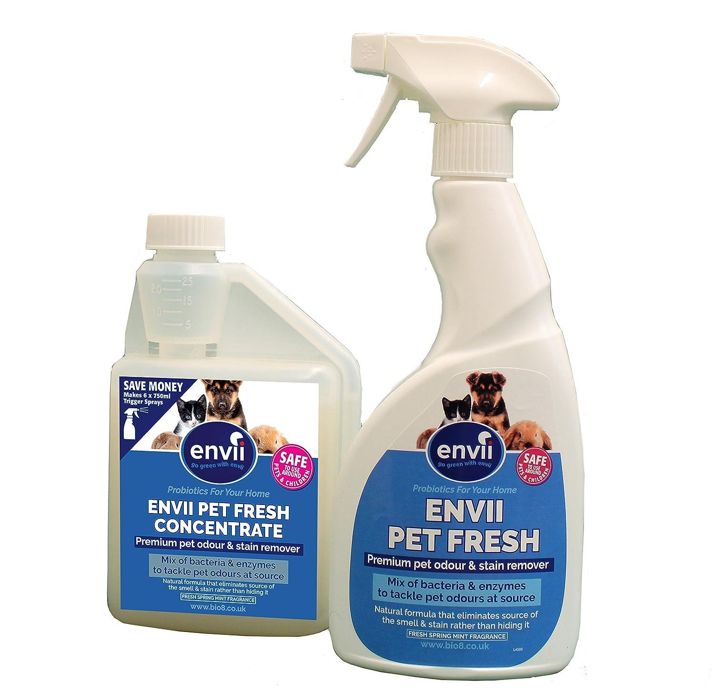 Envii Pet Fresh - Elimina Perro Manchas y Olores, Quitamanchas & Neutralizador con Enzimas, para Cualquier Accidente de su Perro o Gato - 1x 500ml de ...