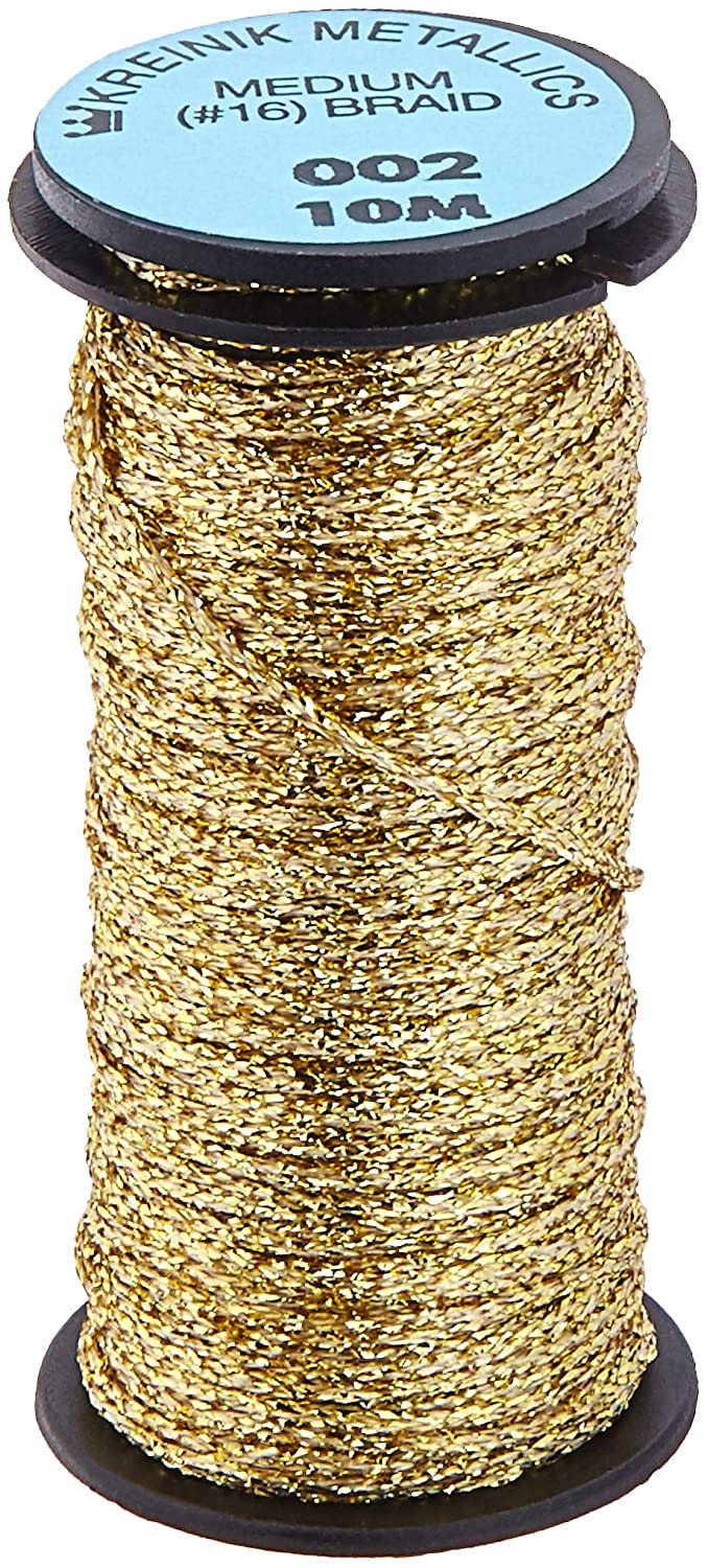 Kreinik No.16 10m Metallic Braid Trim, Medium, Silver Notions - In Network M-001