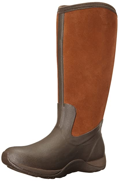 5a964f832 Muck Boots Women's Artic Adventure Suede Zip Snow Boot,Chocolate/Bison,6 M