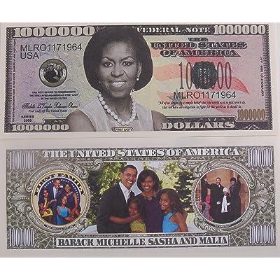 SET OF 10 BILLS-Michelle Obama Million Dollar Novelty Bills: Toys & Games