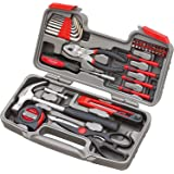 Apollo Tools DT9706 Original 39 Piece General Repair Hand Tool Set with Tool Box Storage Case - New Version