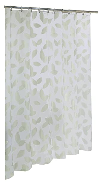 Ex Cell Home Fashions By Appointment Modern Leaf Fly EVA Shower Curtain