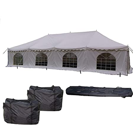 40 x20 PVC Pole Tent – Heavy Duty Party Wedding Canopy Shelter – With Storage Bags – By DELTA Canopies