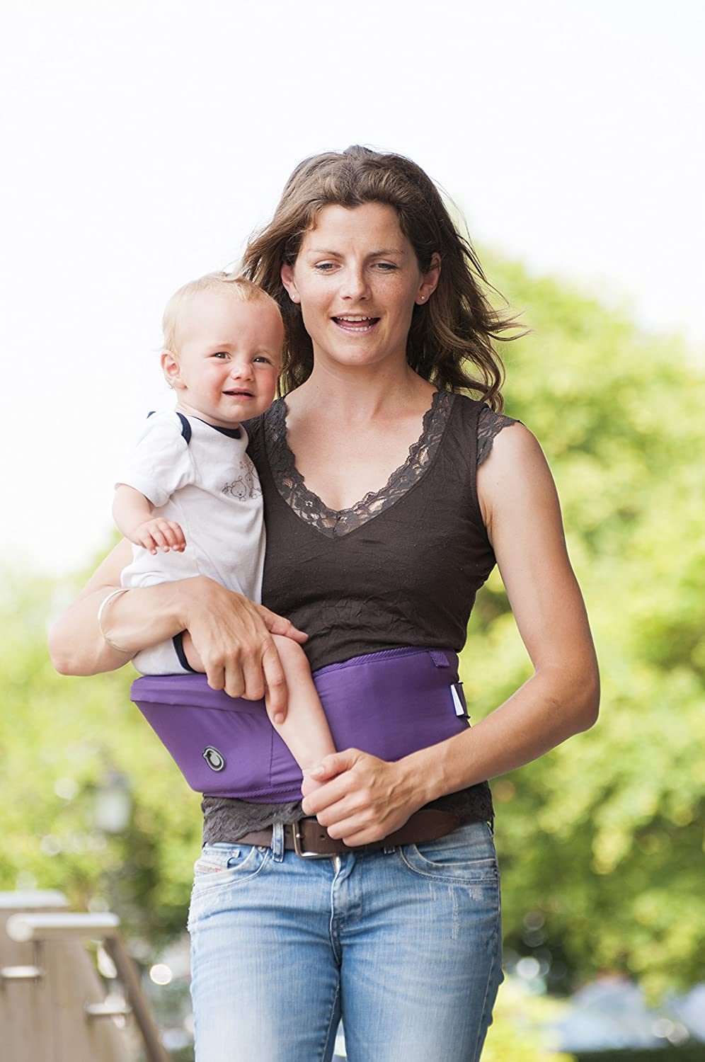 Hippychick Hipseat Baby Carrier – The Easy, No-fuss Baby Carrier That Takes Care Of Your Back - Teal HCHIP0012