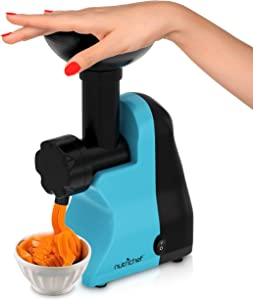 Nutrichef NCIM30 Electric Maker Fruit Sorbet Machine Makes Healthy Vegan Ice Cream Desserts, Soft Serve Gelato, Smoothie, Slushie, Frozen Dairy Free Yogurt w/Recipe Book