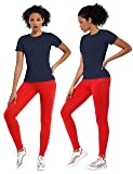 BUBBLELIME Athletic T-Shirts Workout Top for Women