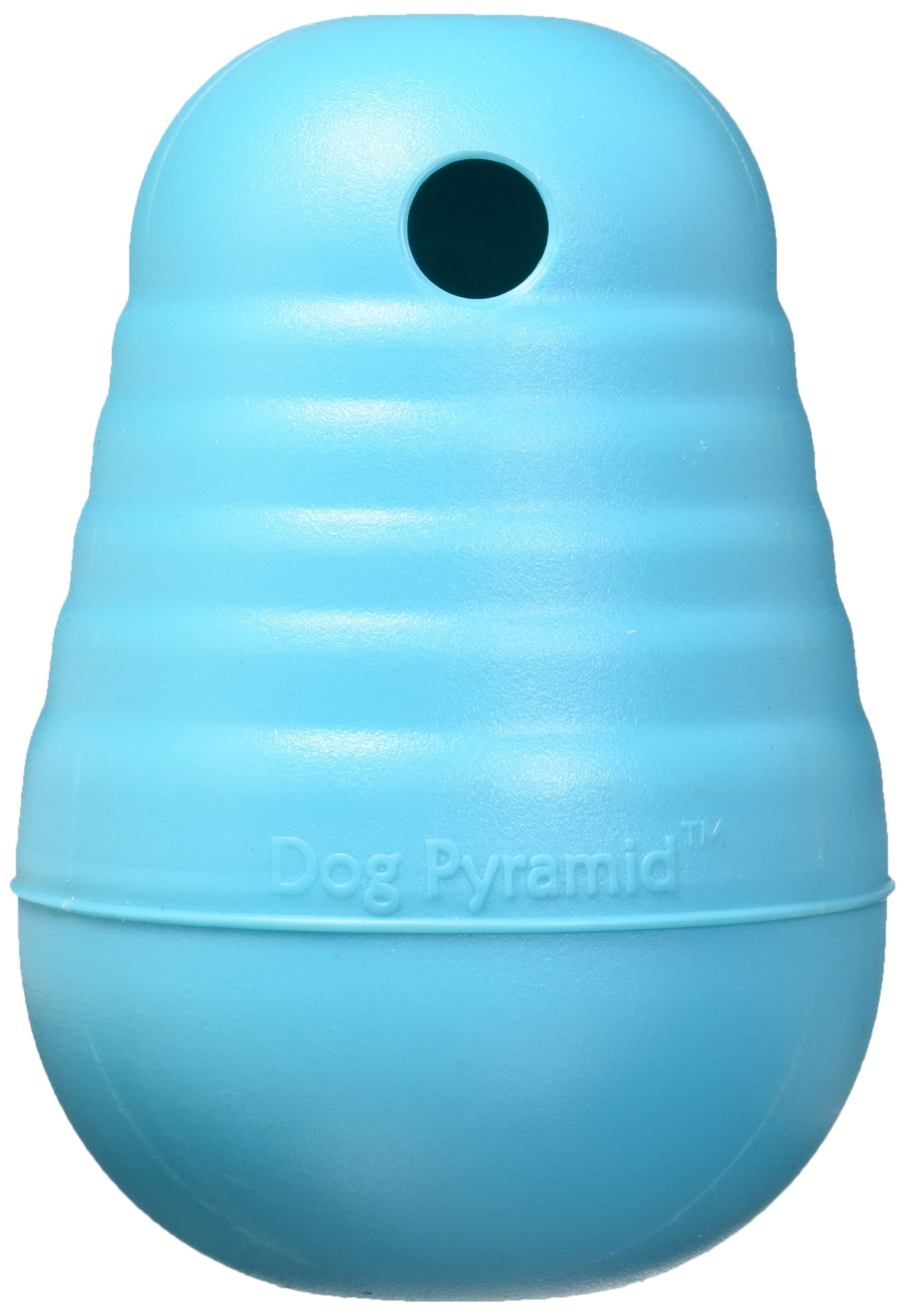 Nina Ottosson Dog Pyramid Interactive Doy Toy Puzzle for Dogs, Turquoise, Large