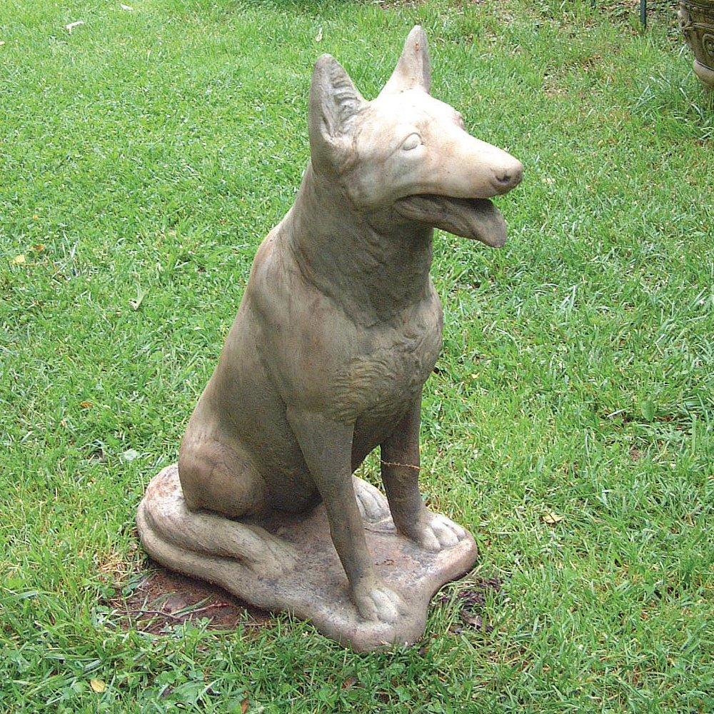 Large Garden Statues German Shepherd Dog Sculpture Amazoncouk