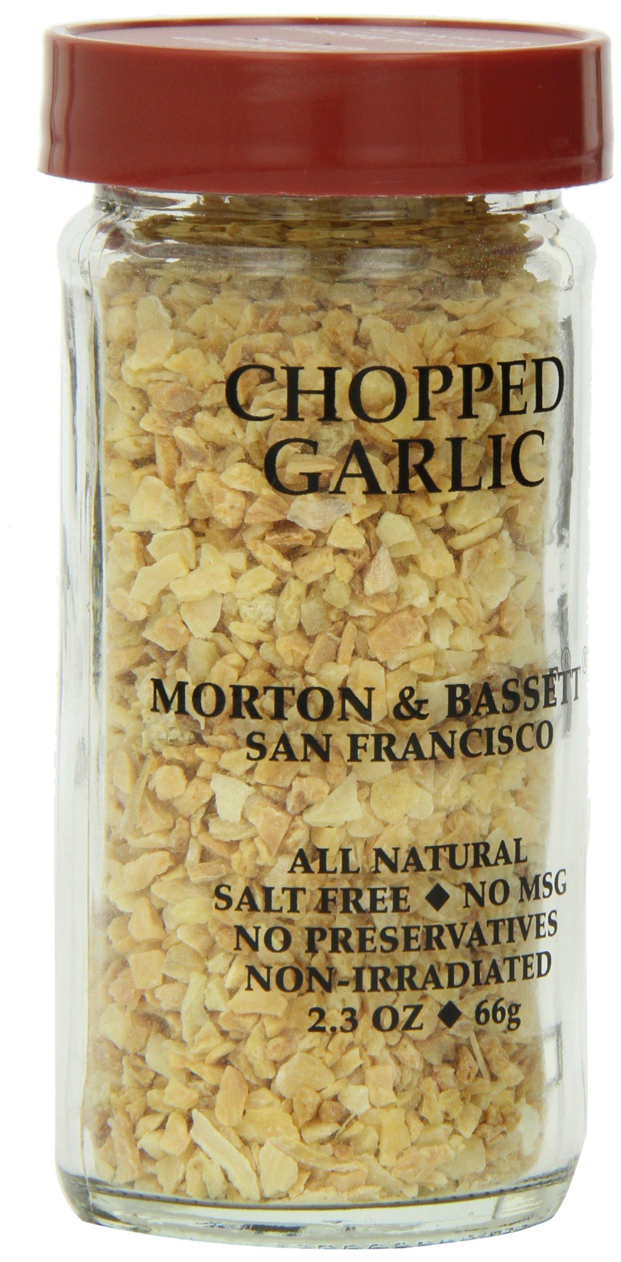 Morton & Bassett Chopped Garlic, 2.3-Ounce Jars (Pack of 3)