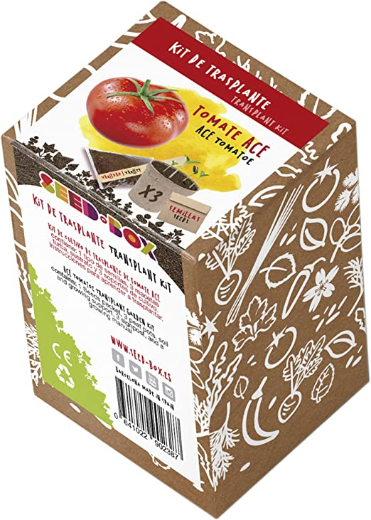 SeedBox KTVHTA Huerto Urbano kit trasplante de tomate ace, 0.7x0 ...