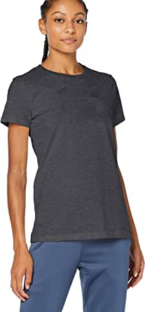 Under Armour Women's Graphic Sportstyle Classic Crew T-Shirt, Grey/Black