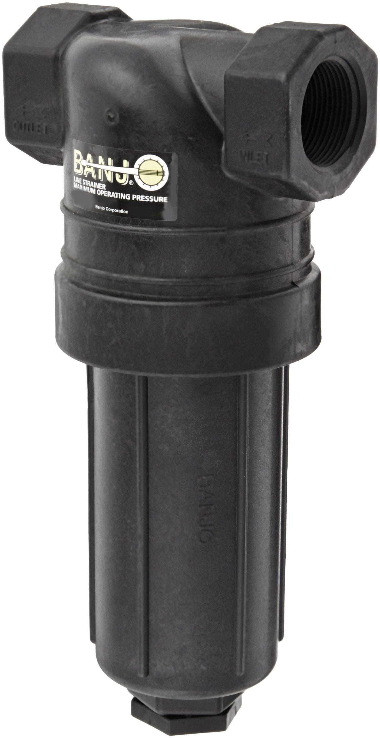 Banjo LST125-100 Polypropylene T-Strainer, 100 Mesh, 1-1/4'' NPT Female