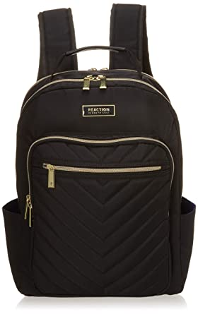 Kenneth Cole Reaction Women s Chevron Quilted Polyester Twill 15.6 quot   Laptop Backpack c73d202e114c4
