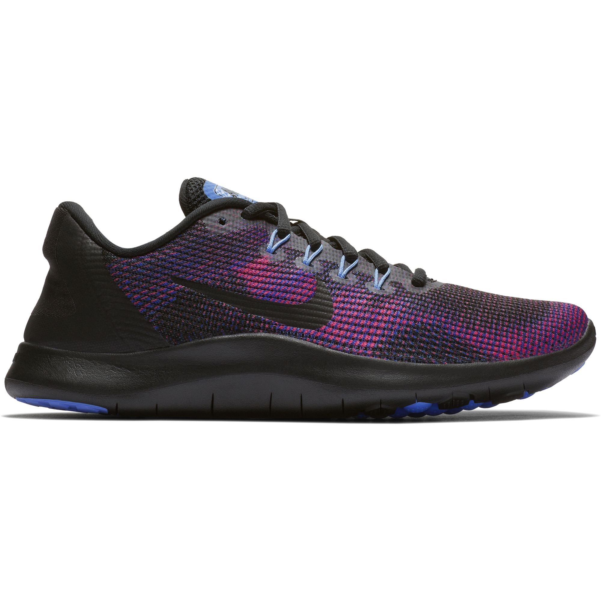 ba0b3698b66ea Galleon - NIKE Women s Flex RN 2018 Running Shoe Black Royal Pulse Deep  Royal Blue Size 6 M US