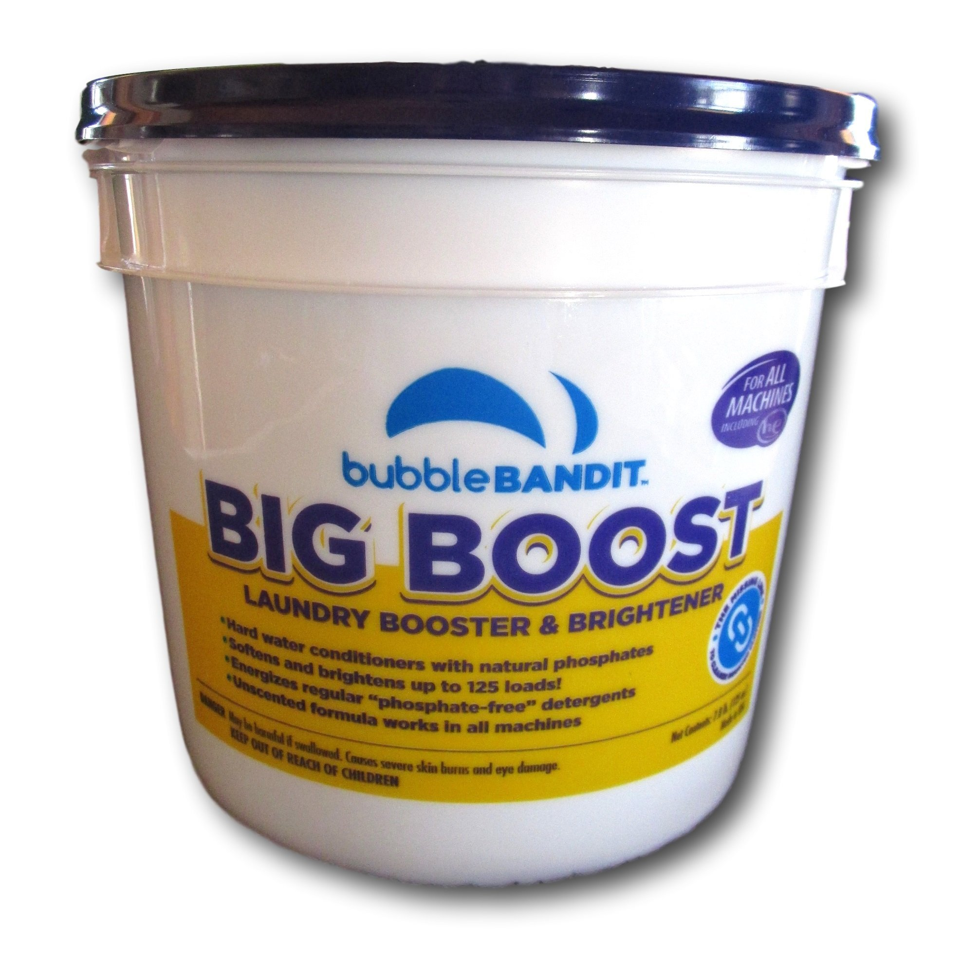 Bubble Bandit Big Boost Hard Water Laundry Brightener with Natural Phosphates. 125 Loads in a 7.8 lb Pail