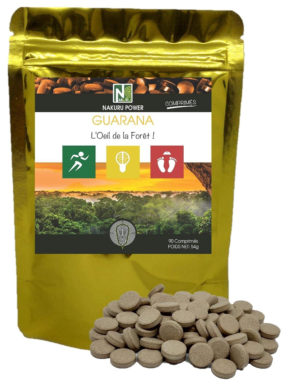 Guaraná | 90 comprimidos de 600 mg | NAKURU Power | Polvo Orgánico Secado y Comprimido en Frío | Analizado y Acondicionado en Francia | El ojo de la ...